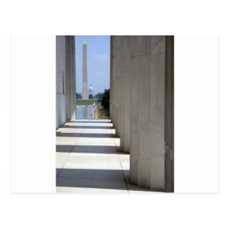 リンカーン記念館ワシントン記念塔 ポストカード