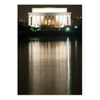 リンカーン記念館夜反射 ポストカード