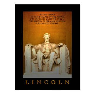 リンカーン記念館 ポストカード