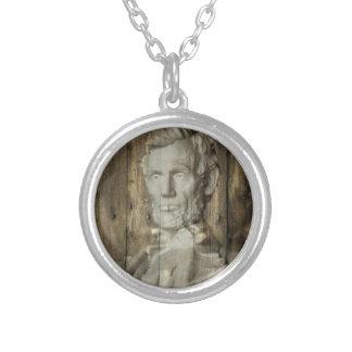 リンカーン記念館Washington D.C.エイブラハム・リンカーン シルバープレートネックレス