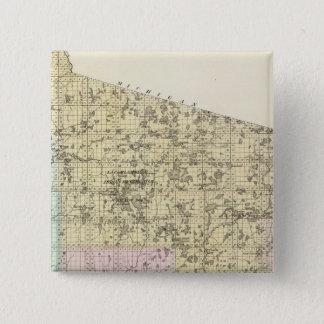 リンカーン郡の地図 5.1CM 正方形バッジ