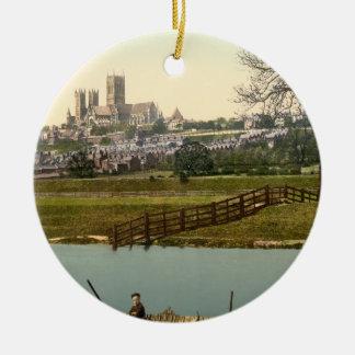 リンカーン都市眺め、リンカンシャー州、イギリス セラミックオーナメント