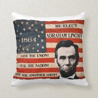 リンカーン1864大統領のキャンペーン クッション