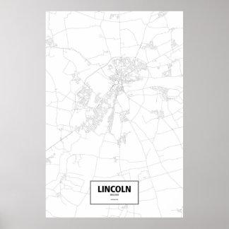 リンカーン、イギリス(白の黒) ポスター
