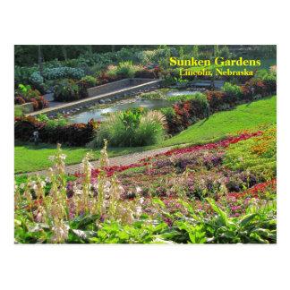 リンカーン、ネブラスカのくぼんだ庭#222N   0222 ポストカード