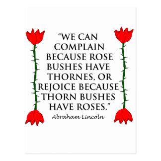 リンカーン: Thornesおよびバラ(2匹のバラ)。 ポストカード