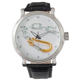 リンクの金ゴールドそして銀製のチェーンクリップ 腕時計