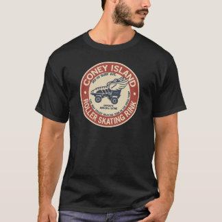リンクを杭で囲うヴィンテージのコニーアイランドのローラー Tシャツ