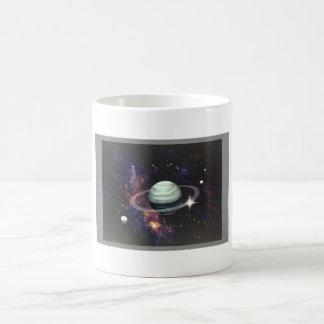リングが付いている土星 コーヒーマグカップ