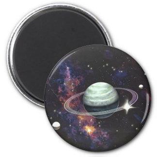 リングが付いている土星 マグネット