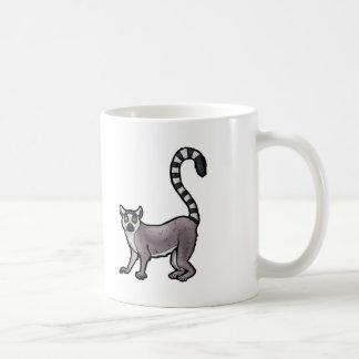 リングによって後につかれるLemur コーヒーマグカップ