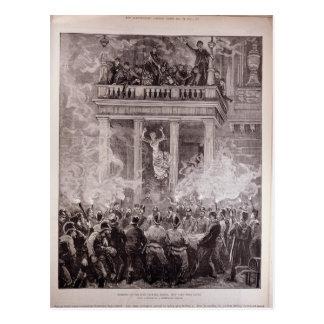 リングの劇場の燃焼、ウィーン ポストカード
