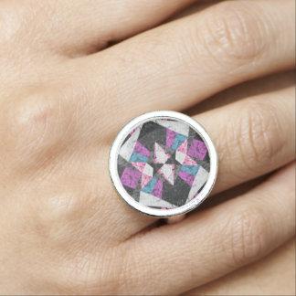 リングの大理石の幾何学的な背景G438 指輪