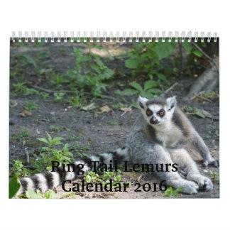 リングの尾Lemurs 2016のカレンダー カレンダー