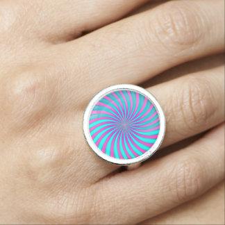 リングの螺線形渦 指輪