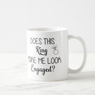 リングは私に婚約したなマグを見させます コーヒーマグカップ