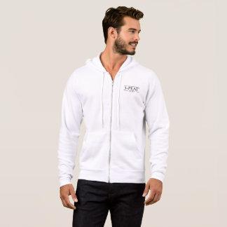 リングや輪およびラインデザインとのThreepeatのフード付きスウェットシャツ パーカ