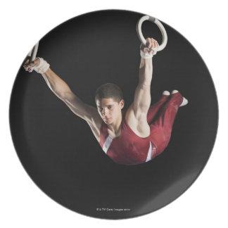 リングや輪から振れている体育専門家 プレート