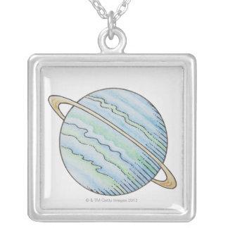 リングや輪が付いている惑星の絵 カスタムジュエリー