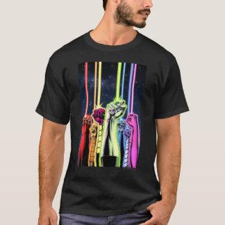 リングや輪が付いている空気-色の手 Tシャツ