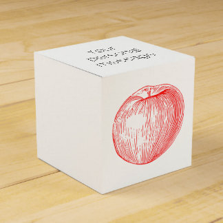 リンゴ飴の赤い凸版印刷Apple フェイバーボックス