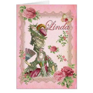 リンダのバラ カード