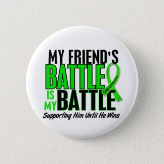 リンパ腫私の戦い余りに1人の友人(男性) 5.7CM 丸型バッジ