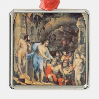 リンボー界、c.1530-35 (パネル)のキリスト メタルオーナメント