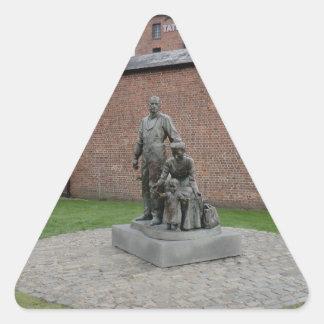 リヴァプールの移民の記念 三角形シール