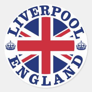 リヴァプールイギリスのイギリスの旗Roundel ラウンドシール