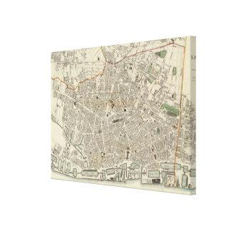 リヴァプールイギリス(1836年)のヴィンテージの地図 キャンバスプリント