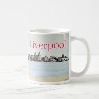 リヴァプール-スカイライン コーヒーマグカップ