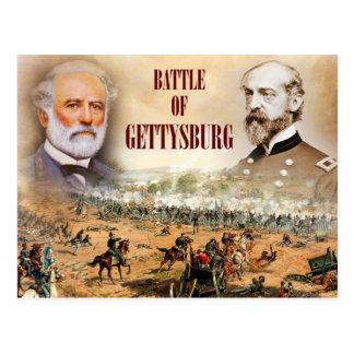 リーおよびMeadeが付いているゲティスバーグの戦い ポストカード