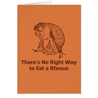リーサスを食べる右の方法がありません カード