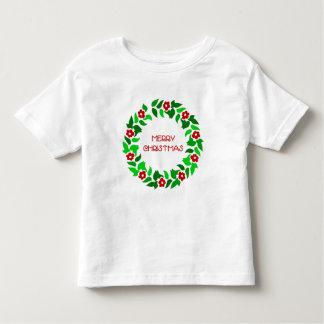 リースの挨拶-幼児のTシャツ トドラーTシャツ