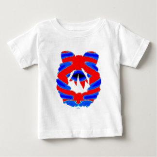リースの花輪のダイヤモンドパターン ベビーTシャツ