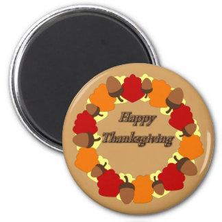 リースの~の幸せな感謝祭 マグネット