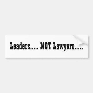 リーダー..... ない弁護士..... バンパーステッカー