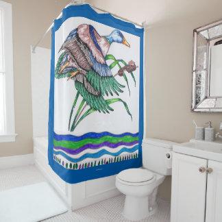 リード2を持つマガモ シャワーカーテン