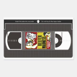 リーファーの狂気VHS 長方形シール