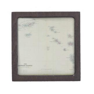 リーワード諸島の地図 ギフトボックス
