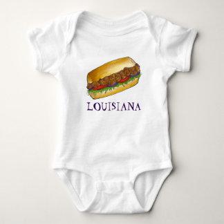 ルイジアナのエビのPo'Boyニュー・オーリンズサンドイッチ食糧 ベビーボディスーツ