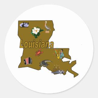 ルイジアナのステッカー ラウンドシール
