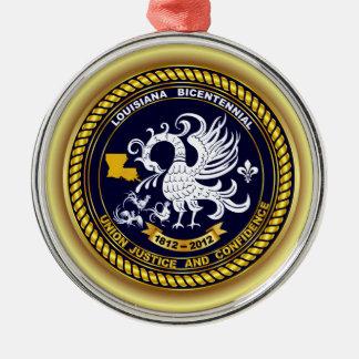 ルイジアナの二百年毎の謝肉祭のロゴの眺めのヒント メタルオーナメント