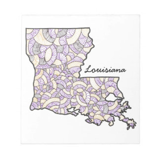 ルイジアナの元の芸術のイラストレーションのメモ帳 ノートパッド