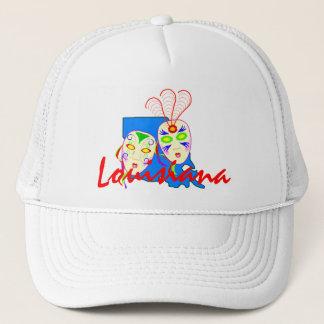 ルイジアナの地図及び謝肉祭のマスクのためのHAT~の広告宣伝 キャップ
