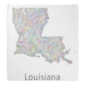 ルイジアナの地図 バンダナ