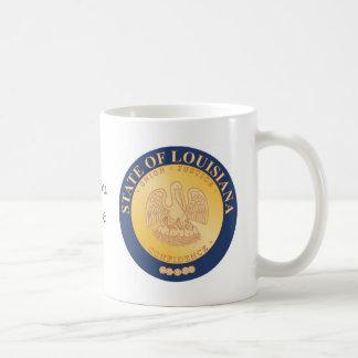 ルイジアナの州のシールおよびモットー コーヒーマグカップ