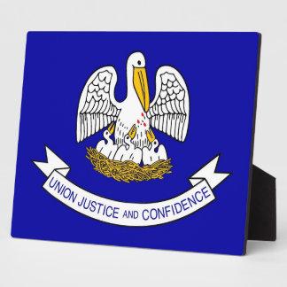 ルイジアナの州の旗のプラク フォトプラーク