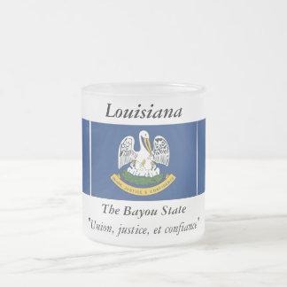 ルイジアナの州の旗 フロストグラスマグカップ
